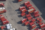 Aerial Photography Royal Mail Post Office Vans At Mount Pleasant London