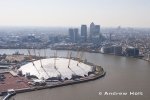 Aerial photography of Millennium Dome, Greenwich, London