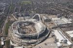 Wembley Stadium building construction site, London England