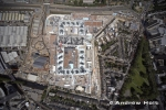 Aerial photography of Westfield White City building construction site, Hammersmith, London W6, 10 June 2008