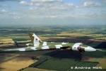 Avro Vulcan Aircraft in flight from the air