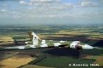 Avro Vulcan Aircraft in flight from the air
