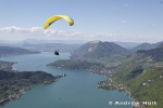 Aerial Photography Paraglider Pilot Above Lake Annecy French Alps France Andrew Holt Aerial Photography Photograph