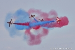 Aerial Photography Red Arrows Formation Aerobatic Flying Team Hawks With Coloured Smoke Andrew Holt Aerial Photography Photograph