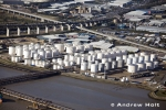 Aerial Photography Oil Storage Tanks By Thames In Thurrock London England Andrew Holt Aerial Photography Photograph