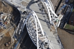 Aerial Photography Wembley Stadium Bridge Building Construction Site London England Andrew Holt Aerial Photography Photograph