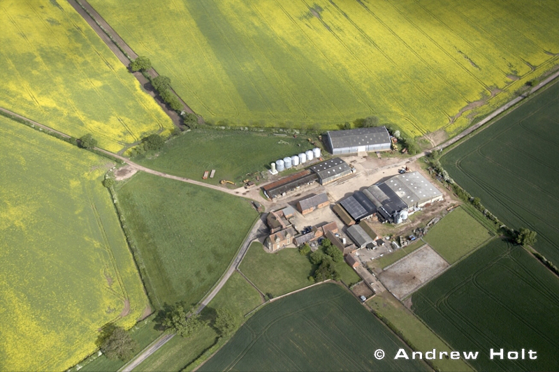 Aerial Photography Country Farm In Fields Binley Woods Warwickshire England