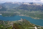 Lake Annecy with mountains of French Alps, Haute Savoie, France