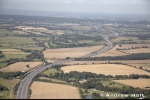 Aerial Photography M25 Motorway Winding Through Hertfordshire Countryside England