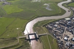 Aerial Photography River Darent And Dartford Salt Marshes London England