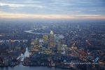 canary wharf docklands isle of dogs dusk twilight night city of london