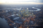 canary wharf docklands isle of dogs dusk twilight night london