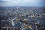shard city of london river thames dusk twilight night england