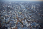 st pauls cathedral city of london river thames shard dusk twilight night england