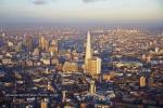 sunset shard thames city of london skyscraper skyline dusk