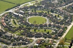 Aerial high level oblique view of houses and suburbs of Hillingdon with Romney Road, Hayes, London UB4, England, 2005
