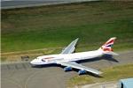 Aerial Photography British Airways 747 Jumbo Jet On Taxiway Heathrow London England