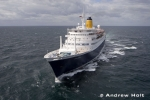 Aerial Photography Cruise Ship Liner Sailing At Sea 1