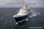 Aerial Photography Cruise Ship Liner Sailing At Sea 1