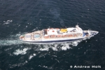 Aerial Photography Cruise Ship Liner Sailing At Sea