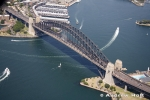 Aerial Photography Harbour Bridge And Boats Sydney Australia