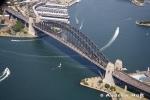 Aerial Photography Harbour Bridge And Boats Sydney Australia