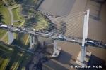 Aerial Photography Queen Elizabeth Ii Bridge Traffic Over River Thames Dartford London