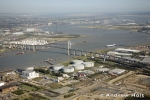 Aerial Photography River Thames Queen Elizabeth Ii Bridge West Thurrock Oil Storage Depot Dartford London